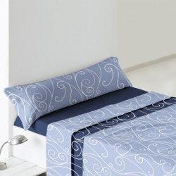 Burrito Blanco juego de sabanas de invierno de coralina diseño 941 azul 135 o 150