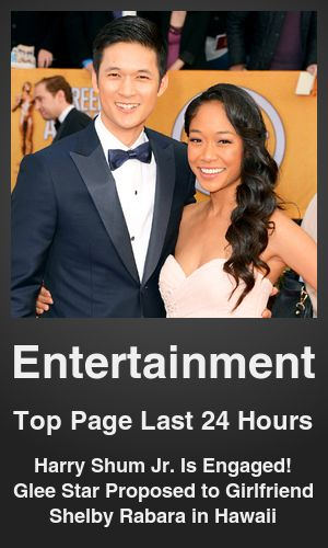Top Entertainment link on telezkope.com. With a score of 22325. --- Harry Shum Jr. Is Engaged! Glee Star Proposed to Girlfriend Shelby Rabara in Hawaii. --- #entertainment --- Brought to you by telezkope.com - socially ranked goodness
