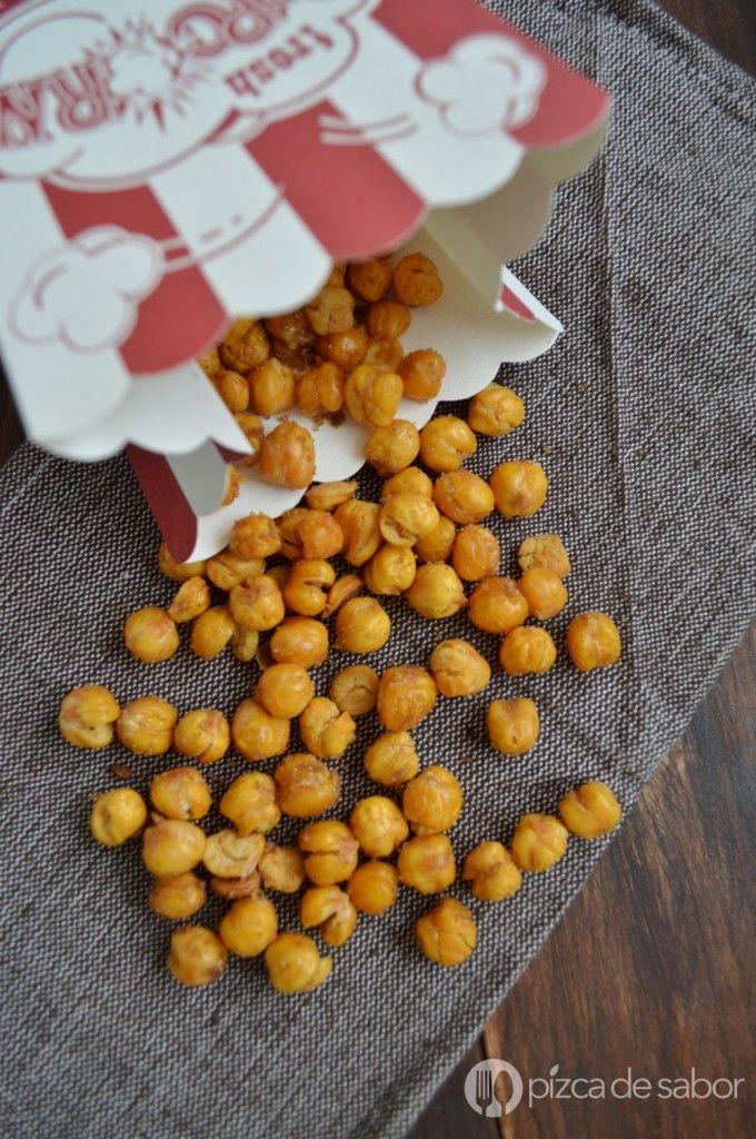 Garbanzos crujientes con canela – botana o snack saludable y con variaciones para hacerlos salados | http://www.pizcadesabor.com