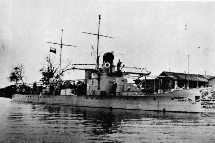 Škoda hlídková loď PRESIDENT MASARYK.