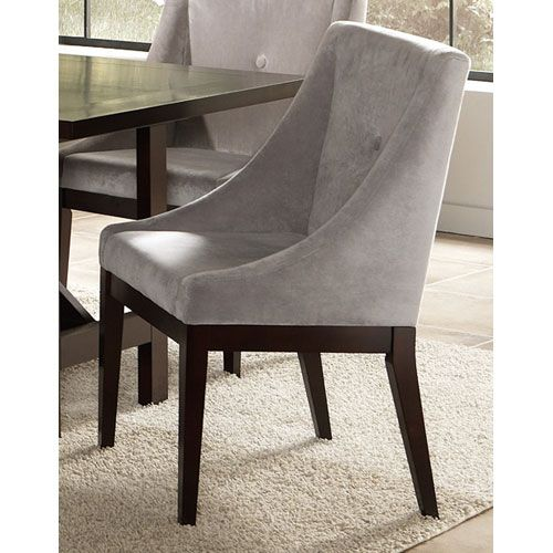 Mage Grey Ultra Suede Tufted Dinig Chair Modern Dining Chairs And Benches