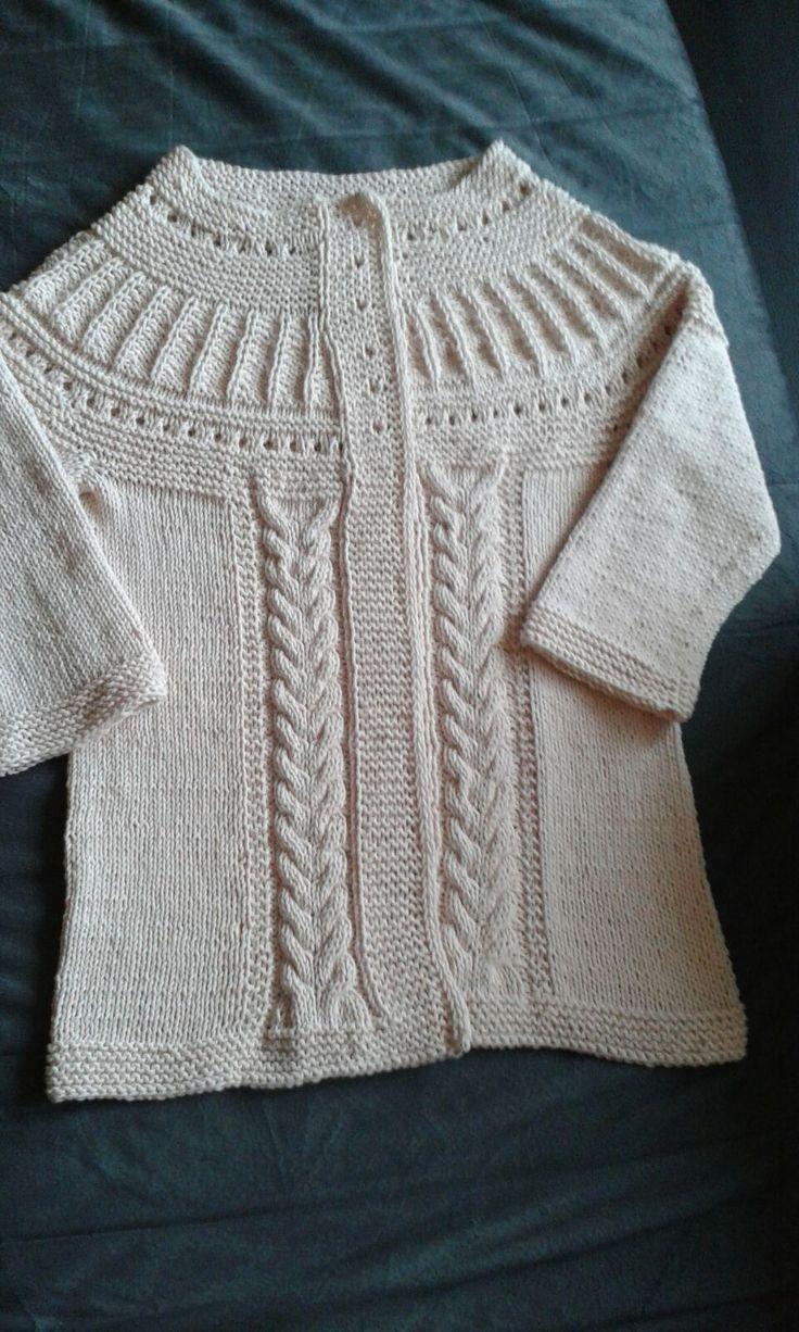 Pletený svetřík s 3/4 rukávy