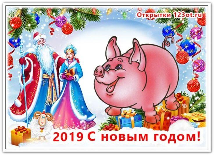Добрый, живые картинки новогодние год свиньи 2019
