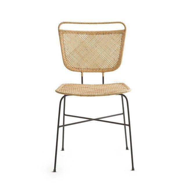 Chaise Theophane Design E Gallina Am Pm In 2020 Chair Rattan Chair Rattan