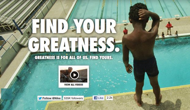 Find Your Greatness! London Olympics Nike Commercial – by @ILoveStyle_be
