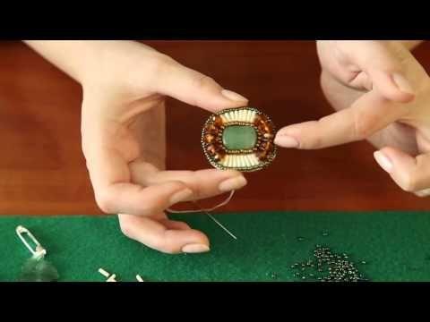 Мастер-класс:брошка из бисера своими руками - YouTube