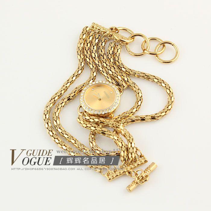 Г-жа дорогая свадьба часы часы моды золото бриллиантовый браслет смотреть Декоративные Авангард личности женской формы - Taobao