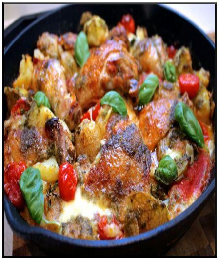 Mediterranean Chicken casserole http://www.ibssanoplus.com/low_fodmap ...