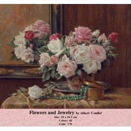 Cross Stitch Model - Flowers and Jewelry by Albert Caullet