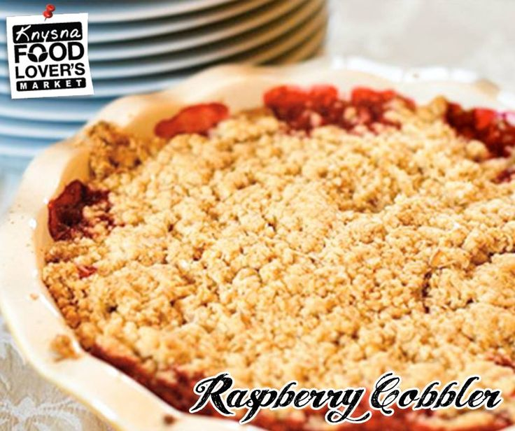 Try this jammy, intensely fruity base of this raspberry cobbler — which packs in five whole cups of berries — and is balanced by a light, sweet biscuit topping. For Full Recipe - Click here: http://apost.link/5xU. #Raspberries #FLMKnysna #cobbler #festiveseason