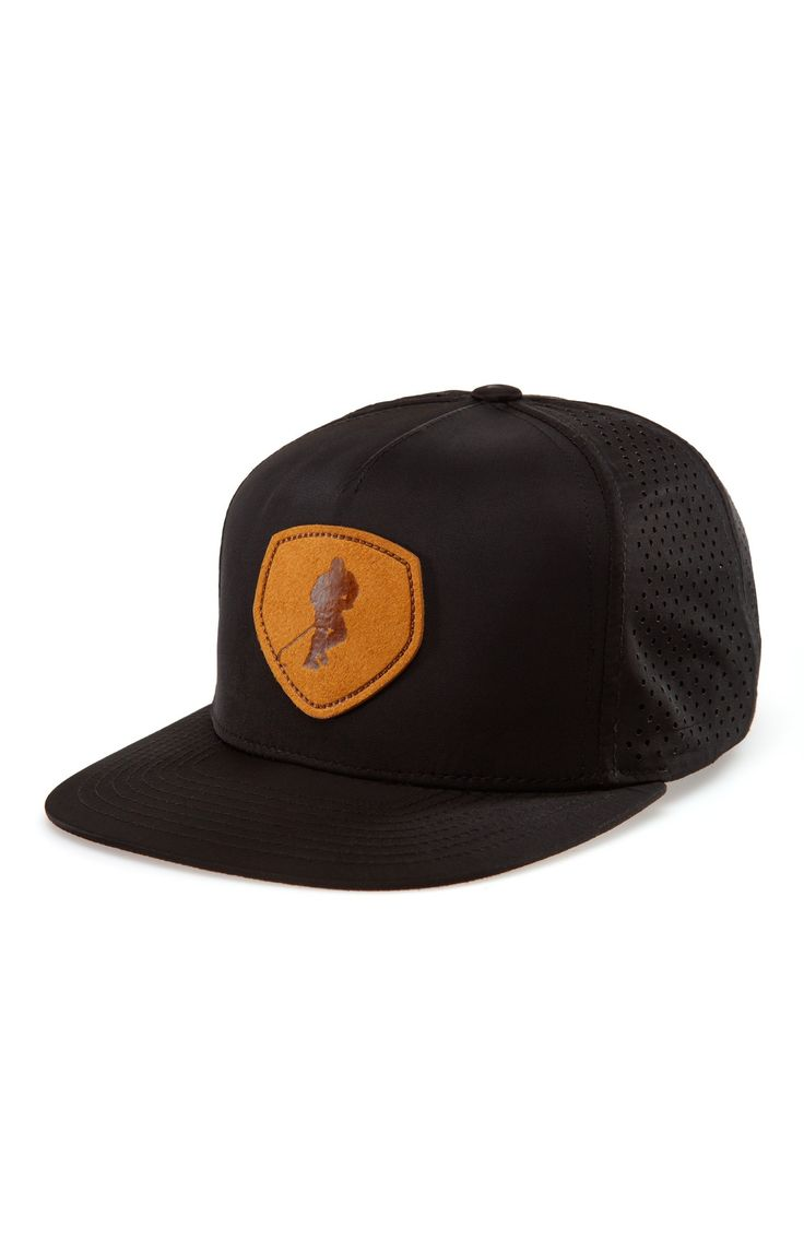 A Time to Toe GONGSHOW Black Flat Brimmed Men's Hockey Hat | GONGSHOW Hockey Lifestyle Apparel