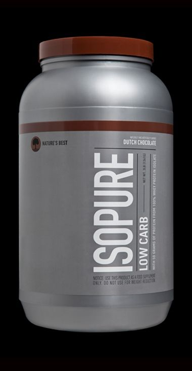 Isopure Dutch Chocolate Low Carb 3 lbs by Nature's Best