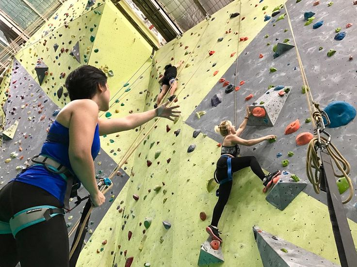 Indoor climbing @Sydney Indoor Climbing Gym! Sharing our passions   #scotsenglish #excursion #sports