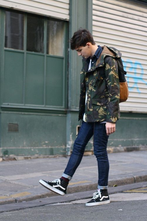 Camo caught on the streets of London. It's here. Wear with neutrals to ensure it looks its best. #streetstyle