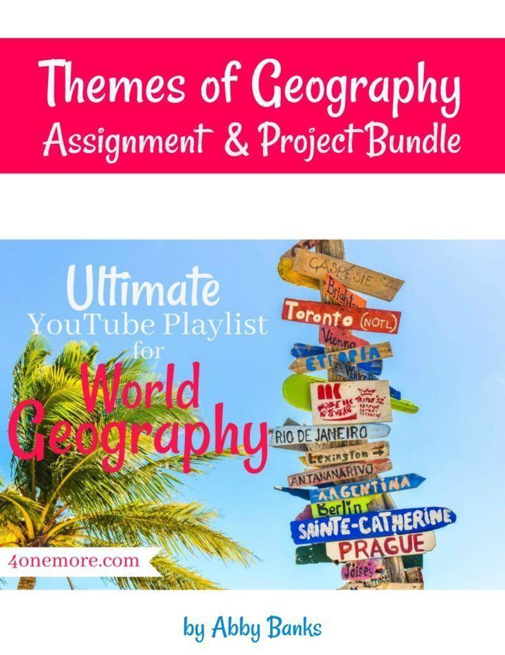 Themes of Geography Task & Undertaking Bundle