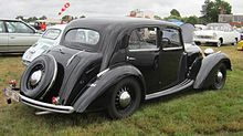 Talbot Lago Minor T4 1937 rear three quarters at Schaffen-Diest 2013.JPG
