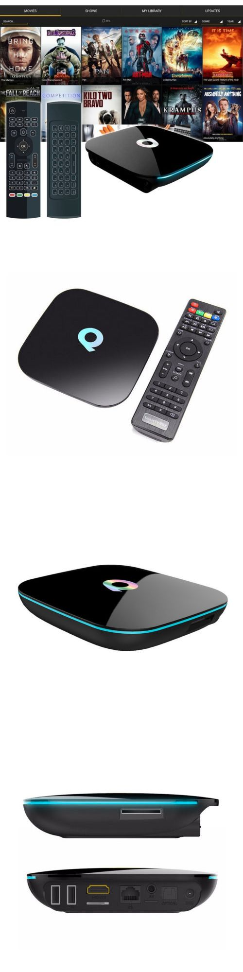 Other TV Video and Home Audio: Qbox Quad-Core 16Gb 1080P 4K 3D Android 6.0 Tv Q Box Set+Air Mouse Keypad Remote BUY IT NOW ONLY: $80.95