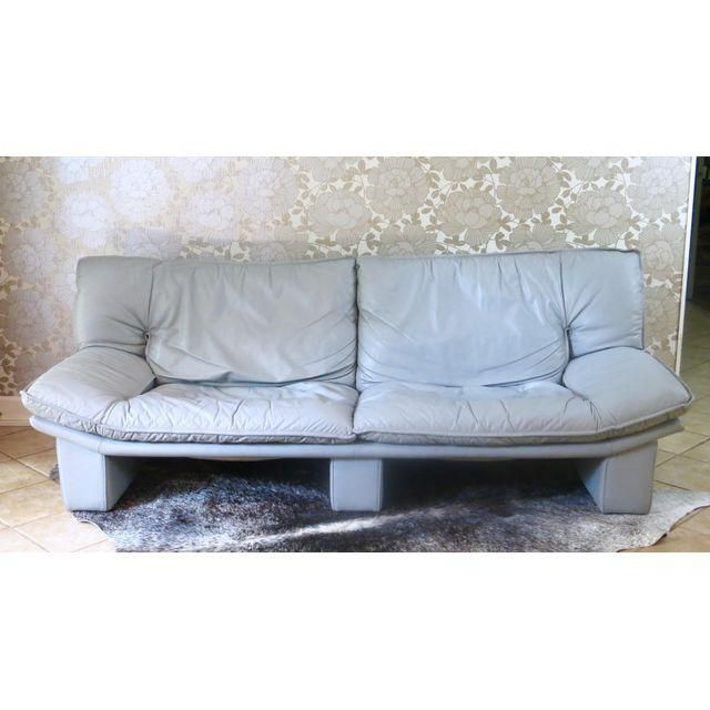 Vintage Italian Leather Sofa By Nicoletti Salotti Grey Leather Sofa Italian Leather Sofa Leather Sofa