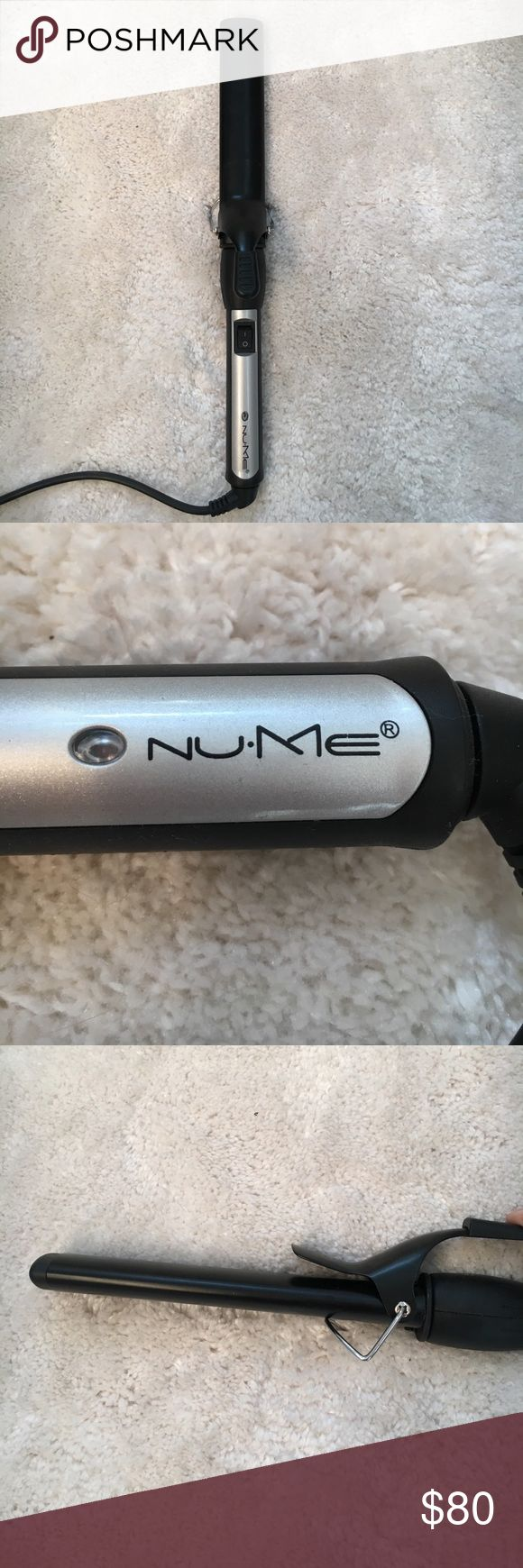🎉24 hr sale! Nume Hair Curling Wand The wand is not circular, as you can see in the pictures. This shape gives a beach, effortless look, less of a defined curl. Like new!  Sale details: Final price reduction. Sale offer will end 9am central 1/21 NuMe Accessories