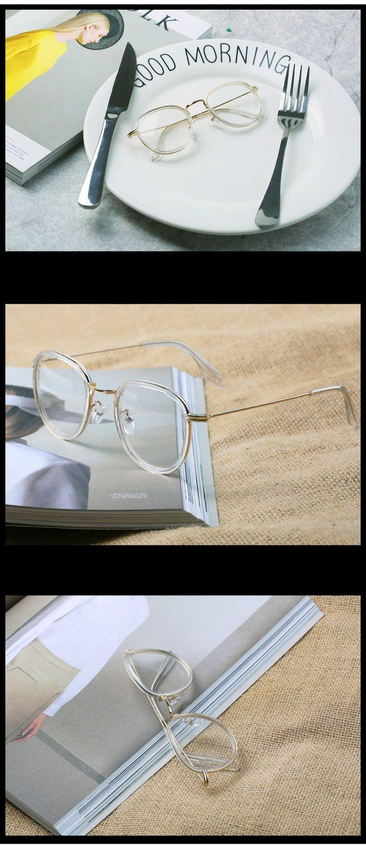 メガネ2018最新トレンド韓国人気 デザイン女性 用レトロ芸能人 メガネ透明