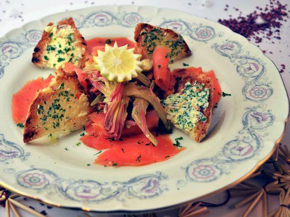 Carpaccio di carciofi con salmone affumicato - Soli 25 minuti di preparazione! #RicetteNatalizie