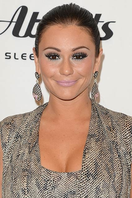 JWoww    This particular shade of pale pink lipstick, which is halfway between pink and nude, is hardly ever flattering on anyone -- but coupled with her over-the-top fake eyelashes, it made for one of the Jersey Shore star's worst red carpet looks in recent memory.