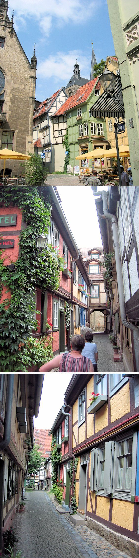 Gassen mit Fachwerkhäusern in der Welterbestadt Quedlinburg im nördlichen Harzvorland ... #quedlinburg #harz #UNESCO