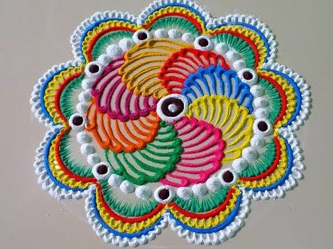 Simple Unique Rangoli Design - YouTube
