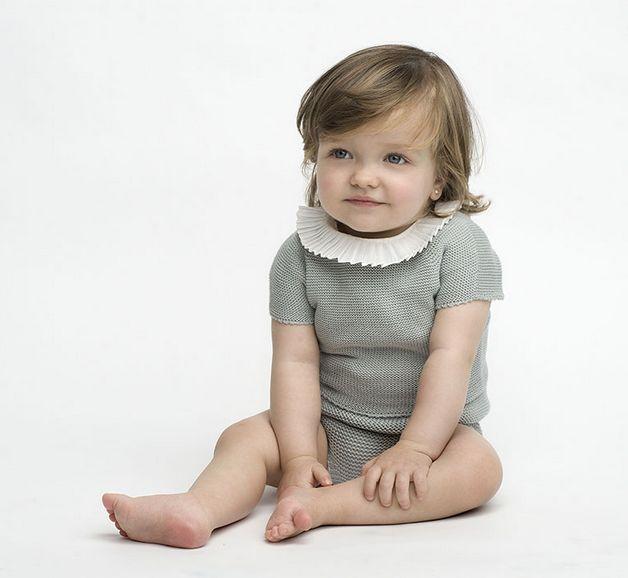 Conjunto Bebé de punto azul Sainte Claire