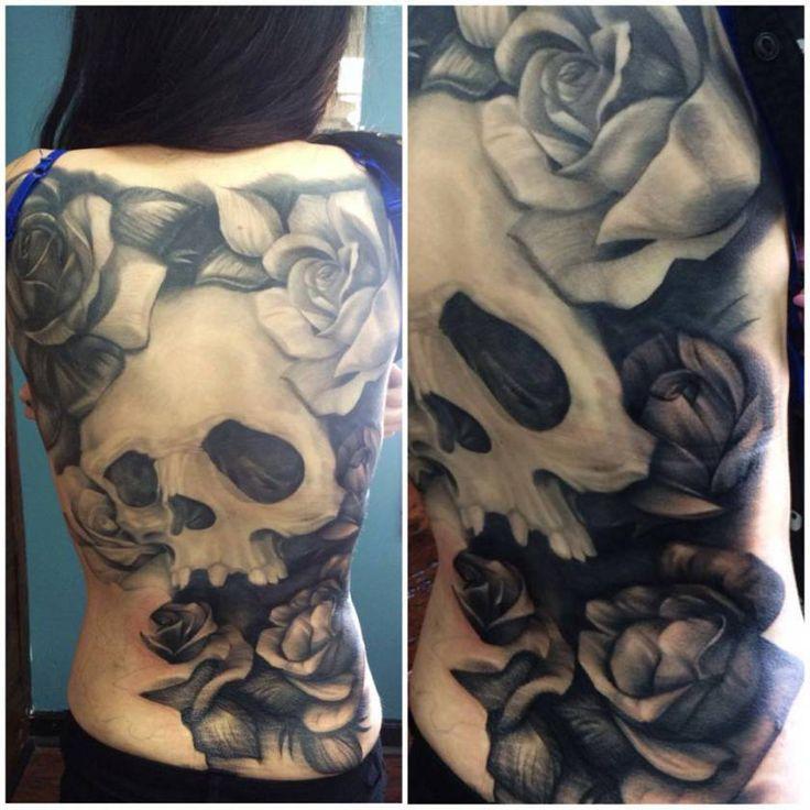 Skull Back Piece: Skull Back Piece By Joe Matisa