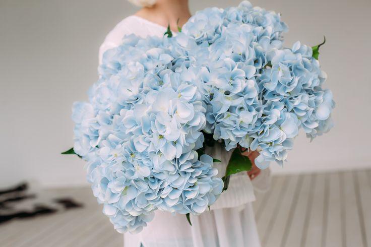 """Гортензия кустовая (5 шапок соцветий на 1 кусте) - 1450р. _______________________________  """"Трогательный и изящный цветок  гортензия – давно стала излюбленным элементом декора для многих из нас. Эти цветы исключительно красивы и могут дополнить любой интерьер! Особенно хороши гортензии в винтажном декоре, в сочетании с ретро-баночками, старыми вазами. Кажется, что белые гортензии просто созданы для стиля шебби шик! Их пышные соцветия удачно дополняют обилие драпировок и потертые предметы…"""