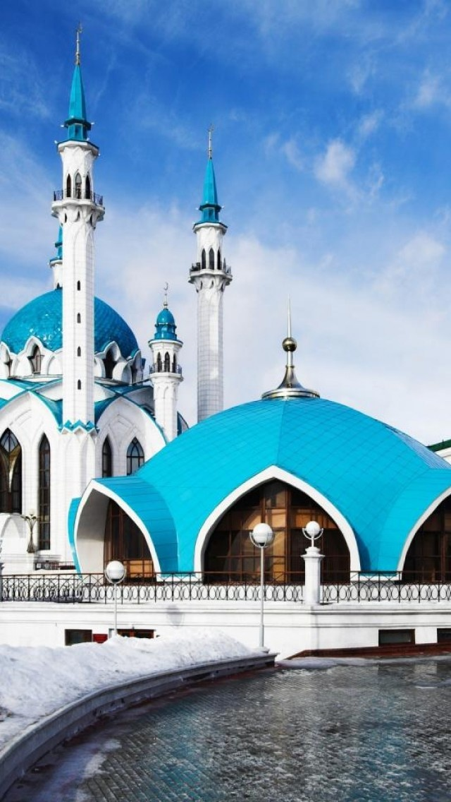 Qolsarif Mosque, Kazan, Russia.  The largest mosque in Russia and Europe outside of Istanbul.