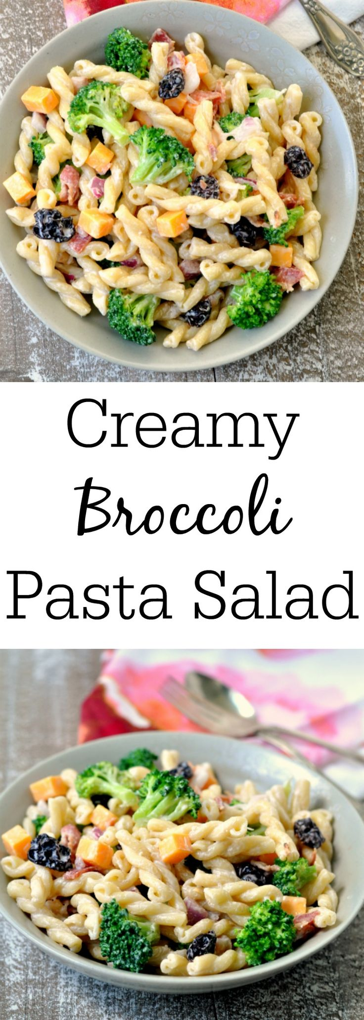 Creamy Broccoli Pasta Salad (need to try this one dairy-free!)