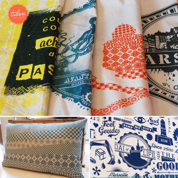//Collections MARSEILLE OAÏ OF LIFE// #Coussin #Totebag & #Sérigraphie #MadeInSud Made In #Marseille