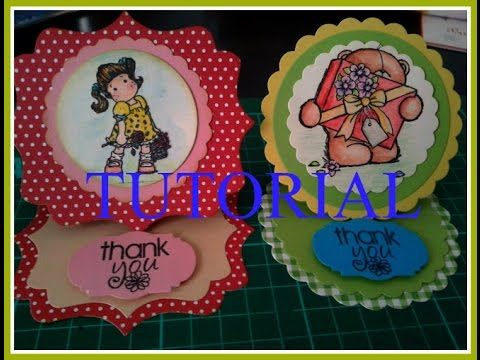 circle easel card -TUTORIAL SCRAPBOOKING