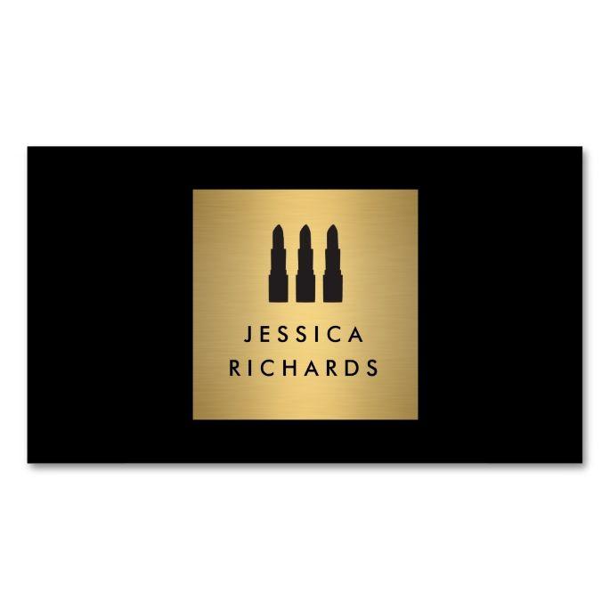 2061 best makeup artist business cards images on pinterest card blackgold lipstick trio logo for makeup artist business card colourmoves