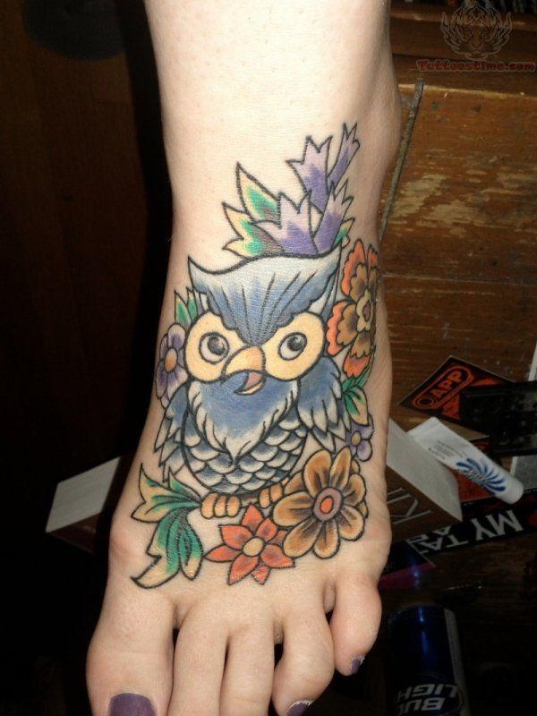 owl-foot-tattoo-for-girls.jpg (600×800)