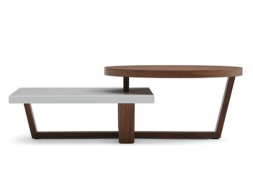 Awesome shape & style, great price. Structube - Living room :  Accent tables : Duo (Walnut/white)
