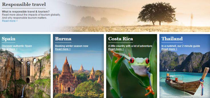 Destination Promotions Banner from Responsible Travel #Web #Digital #Banner #Online #Marketing #Travel #Destinations