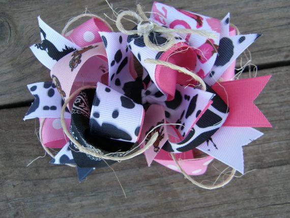 cowgirl hair bowcowboy hair bow by bonbow on Etsy, $7.99