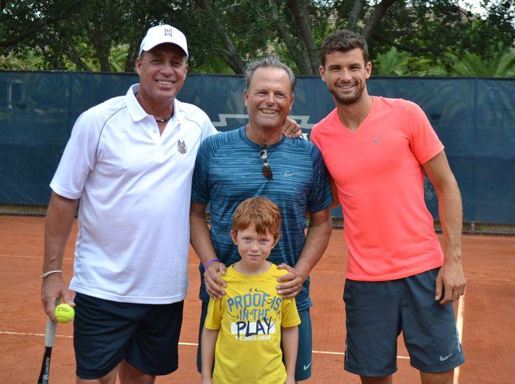 Tennis Pro, Grigor Dimitrov, and Tennis Legend, Ivan Lendl, Put Some Racquets to the Test at Boca Grove Golf & Tennis Club