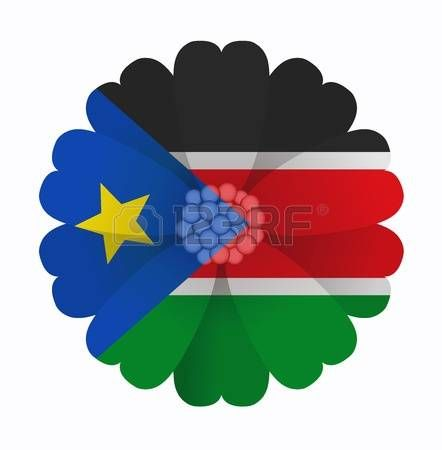 illustration of flower Flag South Sudan photo