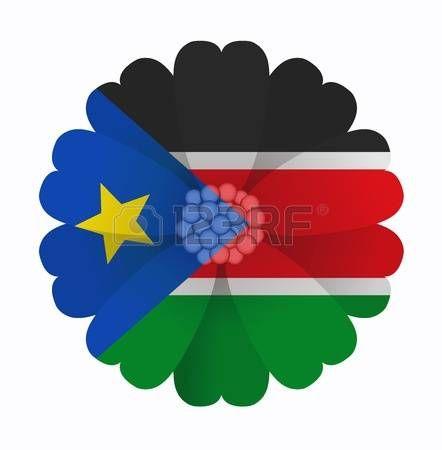 illustration of flower Flag South Sudan photo