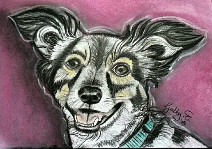 A4 pencil and colour sketch