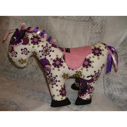 Horse Play Softie n Purple Floral - 8 October - such a lovely little horsey!