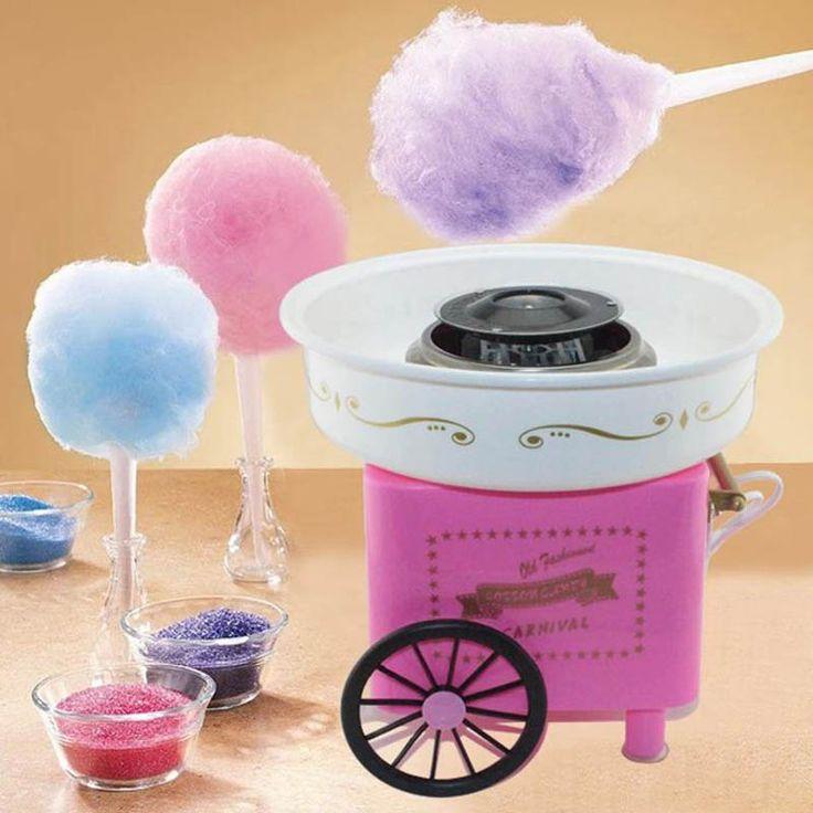 Listrik Mini Manis permen kapas pembuat nostalgia DIY gula Permen Kapas mesin untuk anak-anak hadiah anak gadis boy Natal 220 V