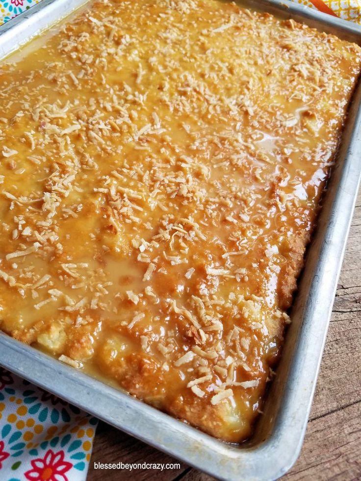 Pineapple Coconut Sheet Cake