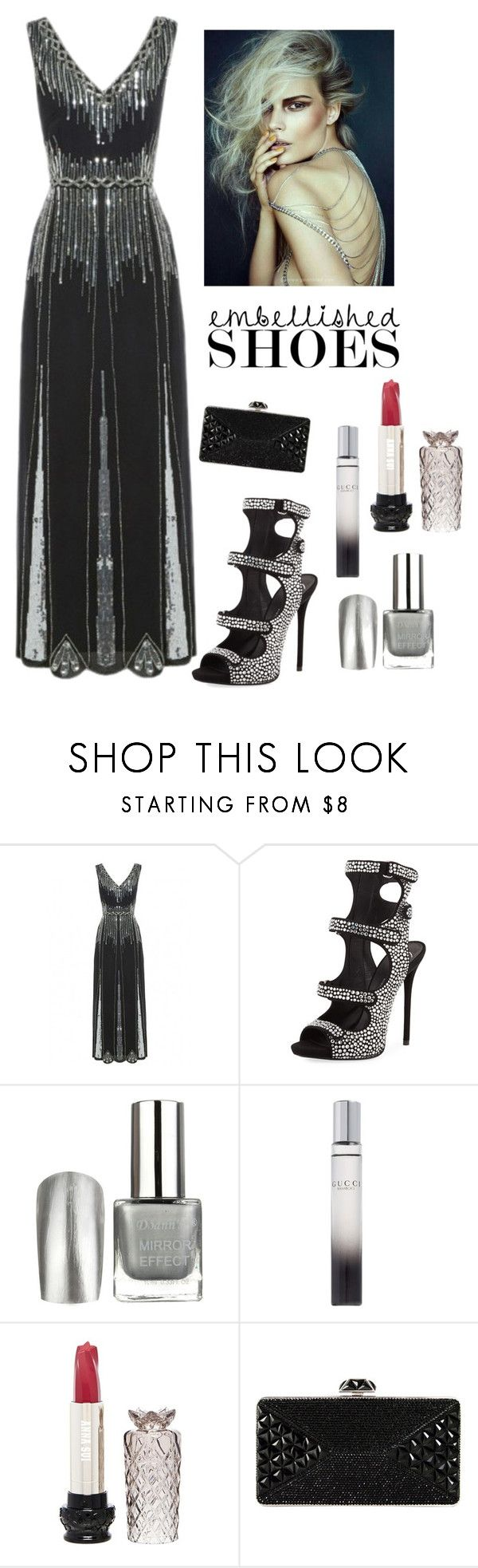 """""""Fabulous Heels"""" by kotnourka ❤ liked on Polyvore featuring Giuseppe Zanotti, Gucci, Anna Sui and Judith Leiber"""