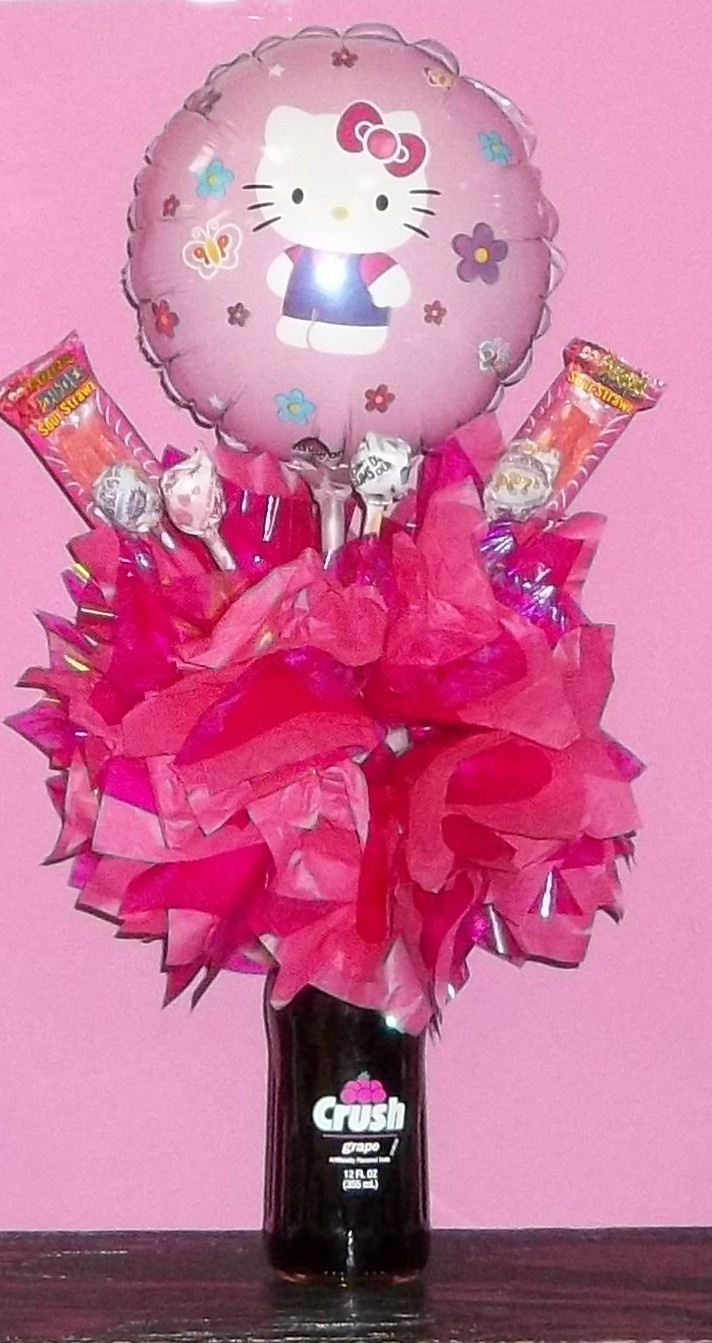 330 best candy bouquet ideas images on pinterest boxes candy hello kitty candy soda bouquet izmirmasajfo