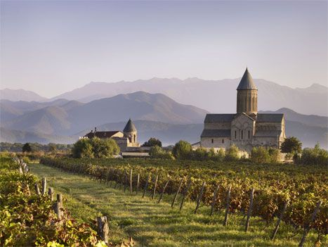 Uncovering Georgia's secret world of wine - The tower of Alaverdi Cathedral stands sentinel over the monastery
